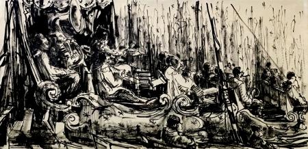 El coleccionista Josep Guindo compra 72 cuadros de Joan Soler-Jové, el cronista gráfico de Charlie Rivel